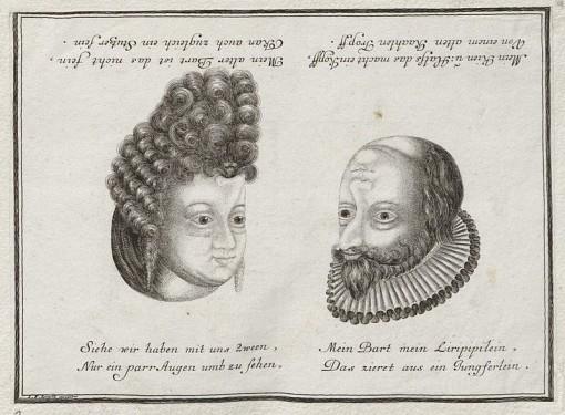 Naisen ja miehen kasvot.