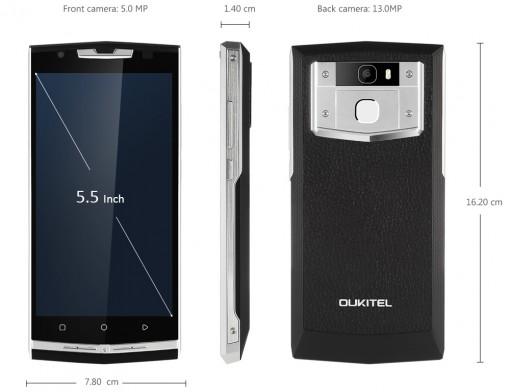 Oukitel K10000 Pro -älypuhelin 10000mAh akulla