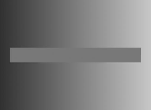 Simultaaninen kontrastiharha. Vaakasuora palkki on oikeasti tasavärinen.