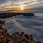 Hämmästyttävän kaunis inversio-pilvi-ilmiö Grand Canyonilla esitetään videolla nopeutettuna