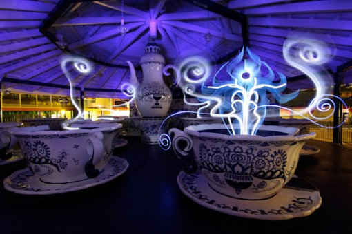Hannu Huhtamo Light Painting, Coffee Ghost