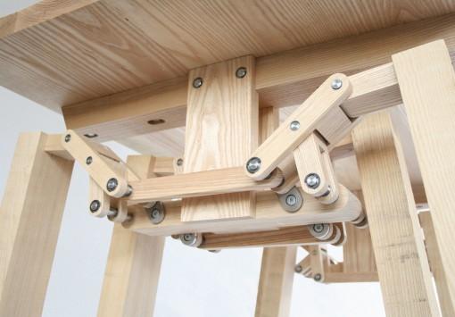 Walking Table -pöydän rakennetta