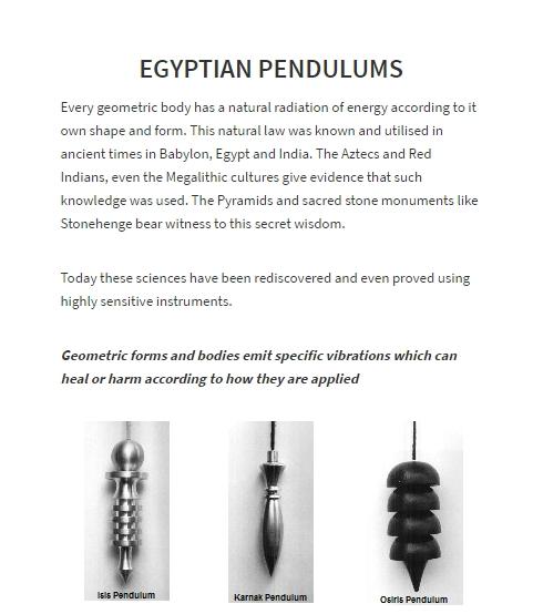 Muinaisegyptiläiset heilurit