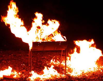 Varo ettei grilli syty palamaan