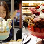 Jättimäiset jäätelöannokset Mo & Moshi -ravintolassa Bangkokissa ovat upeita