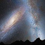 Andromeda ja Linnunrata törmäävät 2,5 – 5 miljardin vuoden päästä ja syntyy Milkomeda