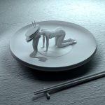 Alastomat naiset jooga-asennoissa sushi-annoksina on kenties kummallisin kuvamanipulaatio aikoihin, katsopa kuvat :)