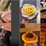 Budapestin Gelarto Rosa -ruusujäätelöannokset