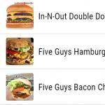 USAn suosituimmat hampurilaiset osavaltioittain, kartta ja lista