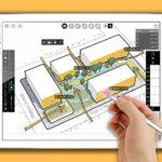 Morpholio Trace – Sketch CAD -app on uudenlainen arkkitehtuurityökalu: Luonnokset piirretään tabletilla, sovellus laskee mm. pinta-alat ja mallit siirretään CADiin mallinnusta varten. Työskentely luonnosten ja mallien välillä on saumatonta.