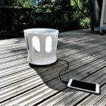 The Crown – Bluetooth Design Speaker on HD 360° -kaiutin, jossa on valot ja saunakiulu – Suomalainen innovaatio!