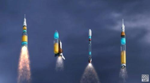 Läpinäkyvät raketit