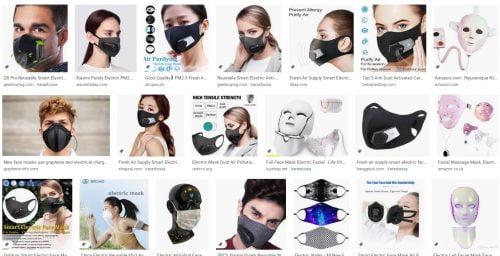 Electric Face Mask -haku Googlella
