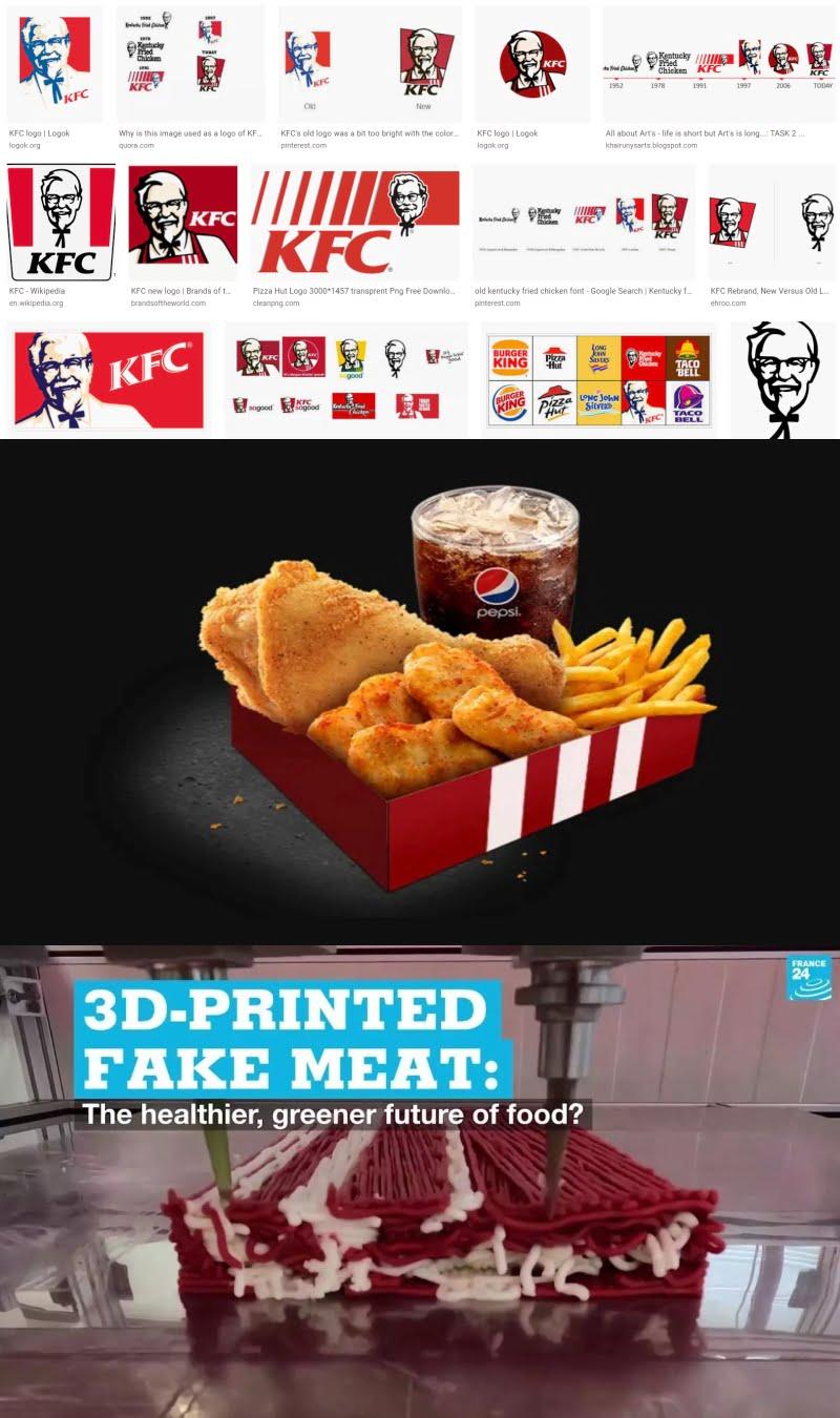 KFC 3d-tulostettua lihaa??