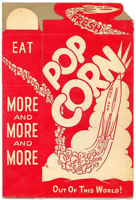 Rocket Popcorn Box vintage