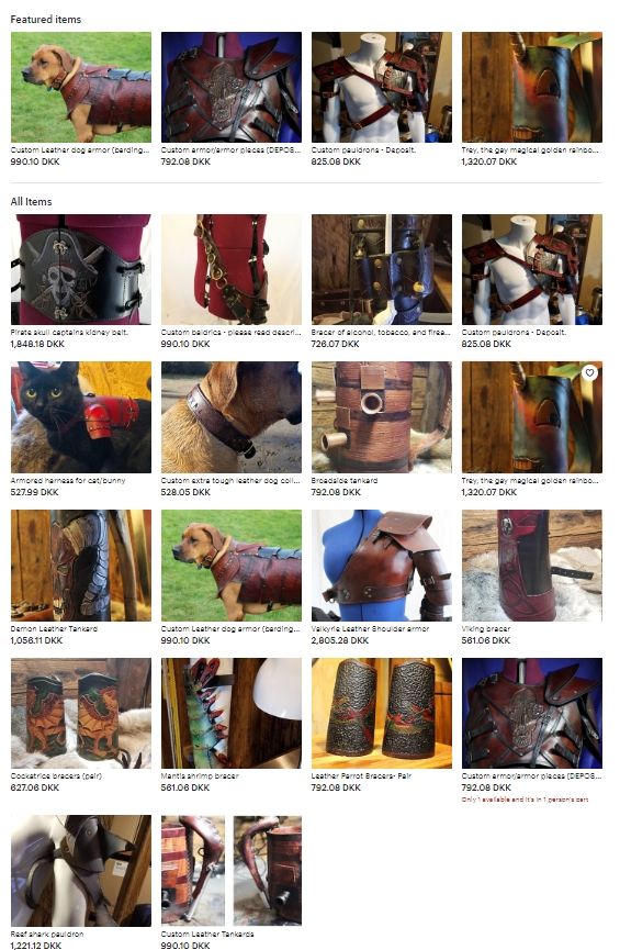 TheKingsShilling - Quality Custom Leather Goods and armor made by hand!