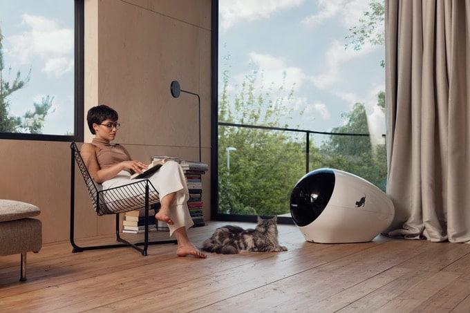 SPACE KOTTY -futuristinen äly-kissanhiekkalaatikko