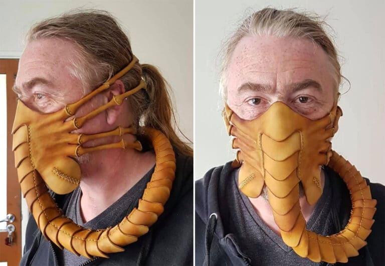 Alien Facehugger -kasvomaski