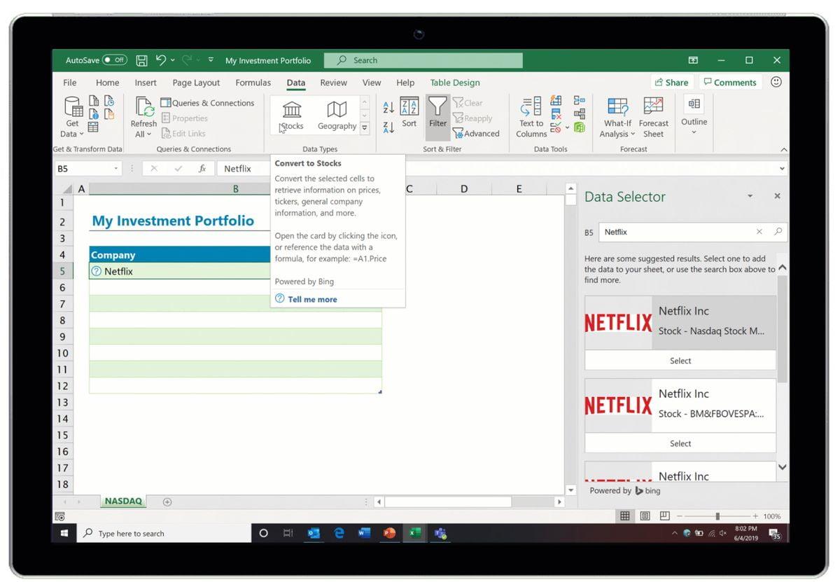 Excel-näkymä