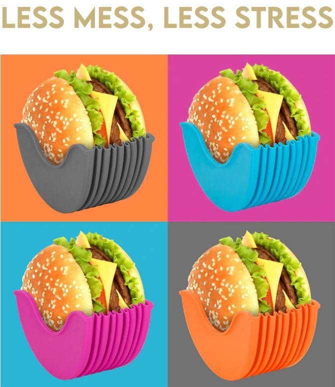 Burger Buddy - kätevä apuväline hampurilasen syöntiin