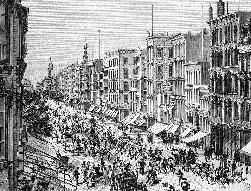 Broadway 1880-luvulla