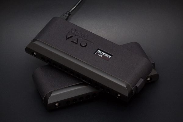 DM48 - 12 hole, 48 note, digital chromatic harmonica. - xpressive control over any electronic instrument. Midi Harmonica