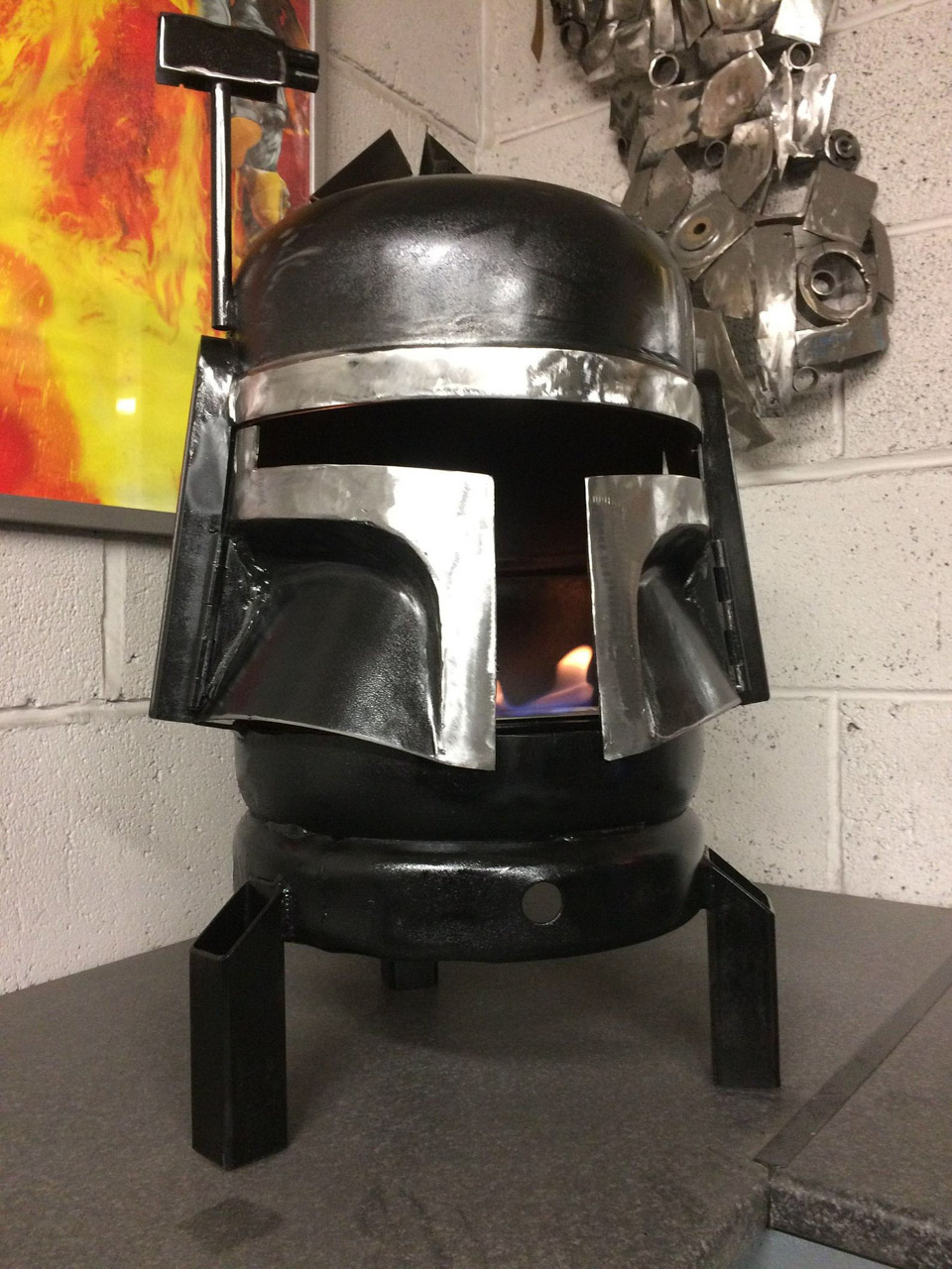 Boba Fett Wood Burner - Boba Fett Fire Pit - Star Wars Fire Pit - Metal Art - Fire Pit - Wood Burner - Star Wars Gifts