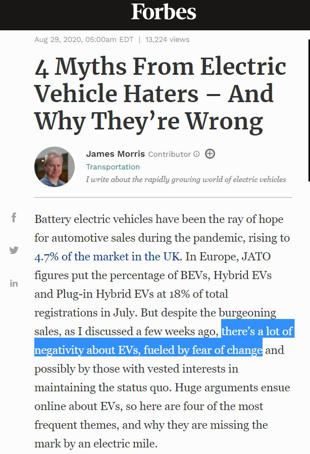 4 Myths From Electric Vehicle Haters – And Why They're Wrong