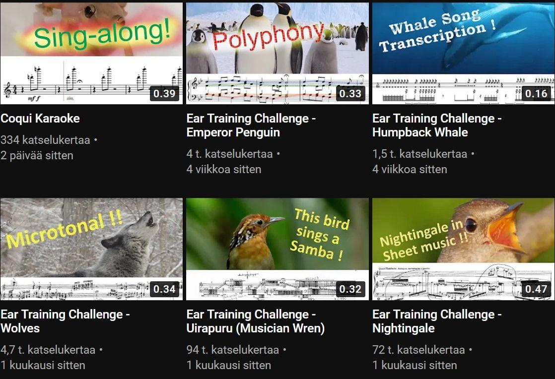 Alexander Liebermann - eläinten ääniä nuoteiksi