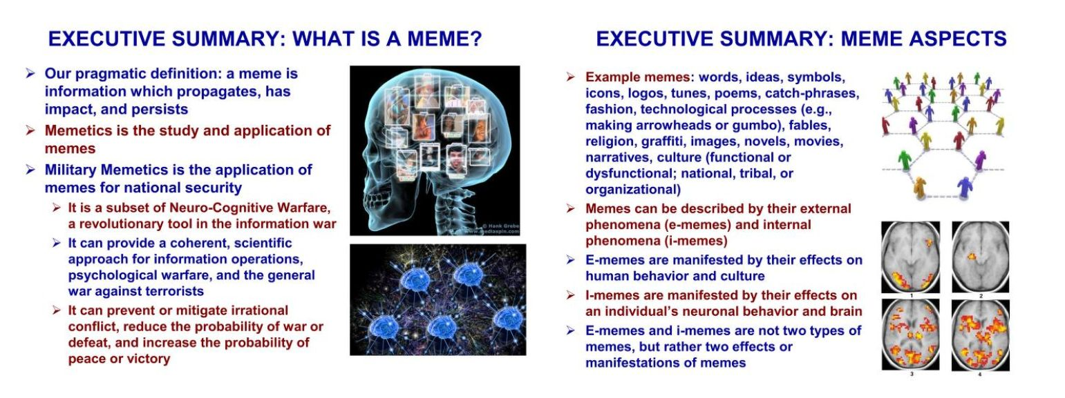 Military Memetics by Dr. Robert Finkelstein