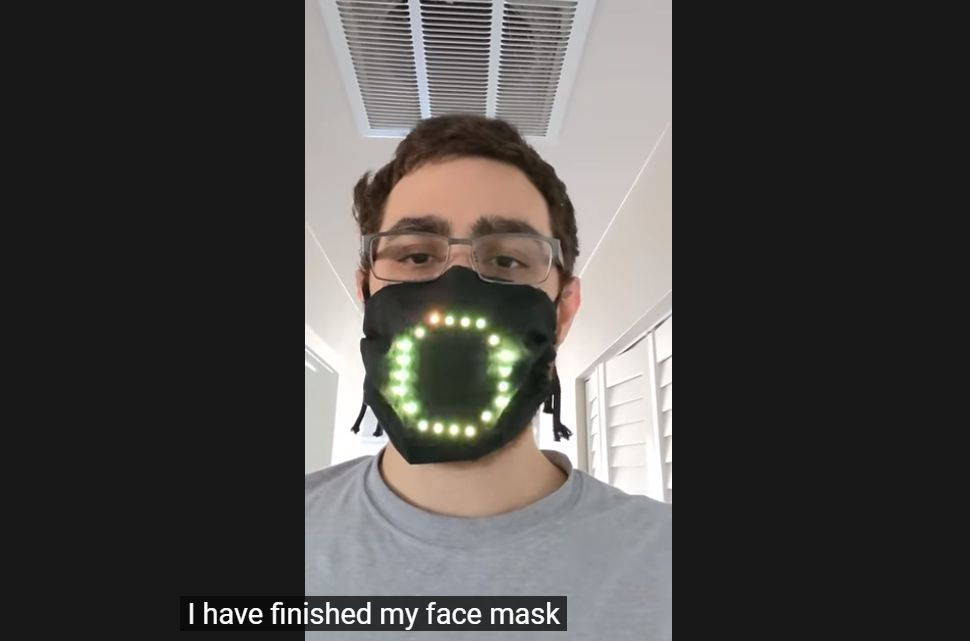 Programmer and game designer Tyler Glaiel added a sci-fi twist to his protective face mask