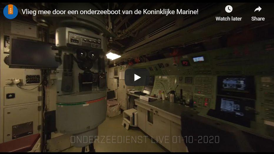 Sukellusveneen sisällä drone-lennokilla