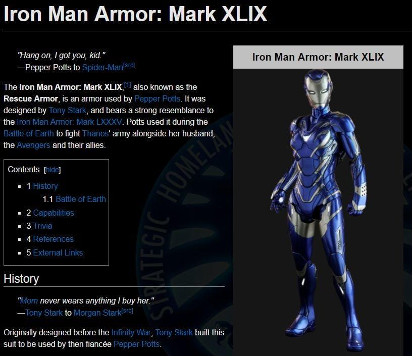 Iron Man Armor Mark XLIX
