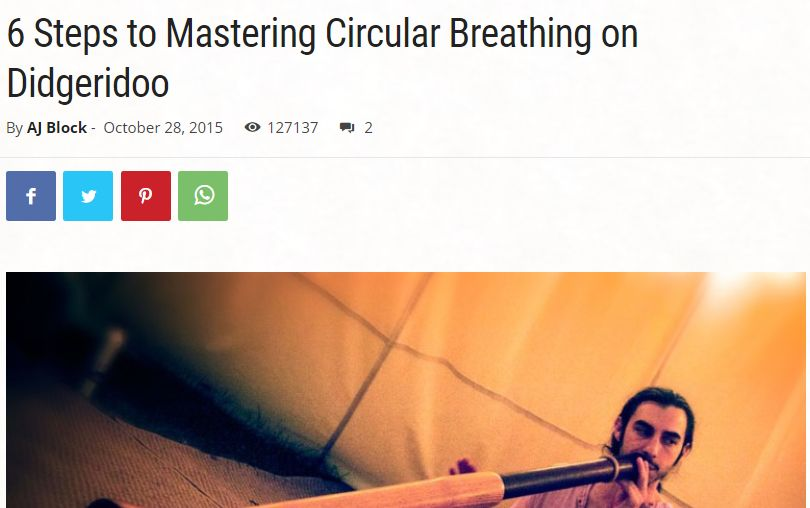 6 Steps to Mastering Circular Breathing on Didgeridoo6 Steps to Mastering Circular Breathing on Didgeridoo